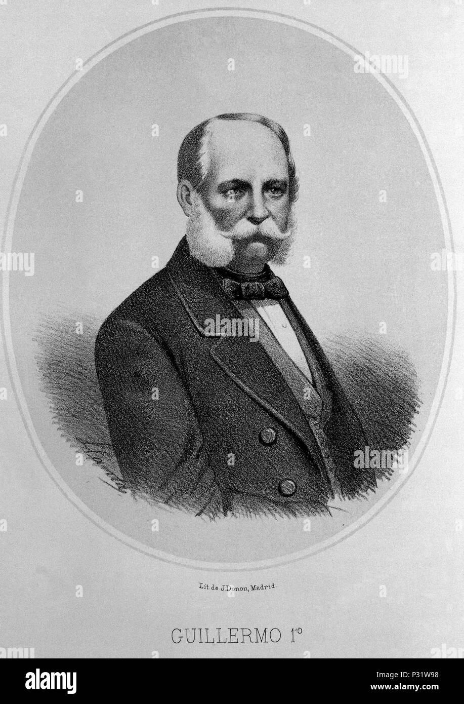 GUILLERMO I REY DE PRUSIA Y EMPERADOR DE ALEMANIA 1797-1888. Author: Julio Donon (19th cent.). Location: BIBLIOTECA NACIONAL-COLECCION, MADRID, SPAIN. - Stock Image