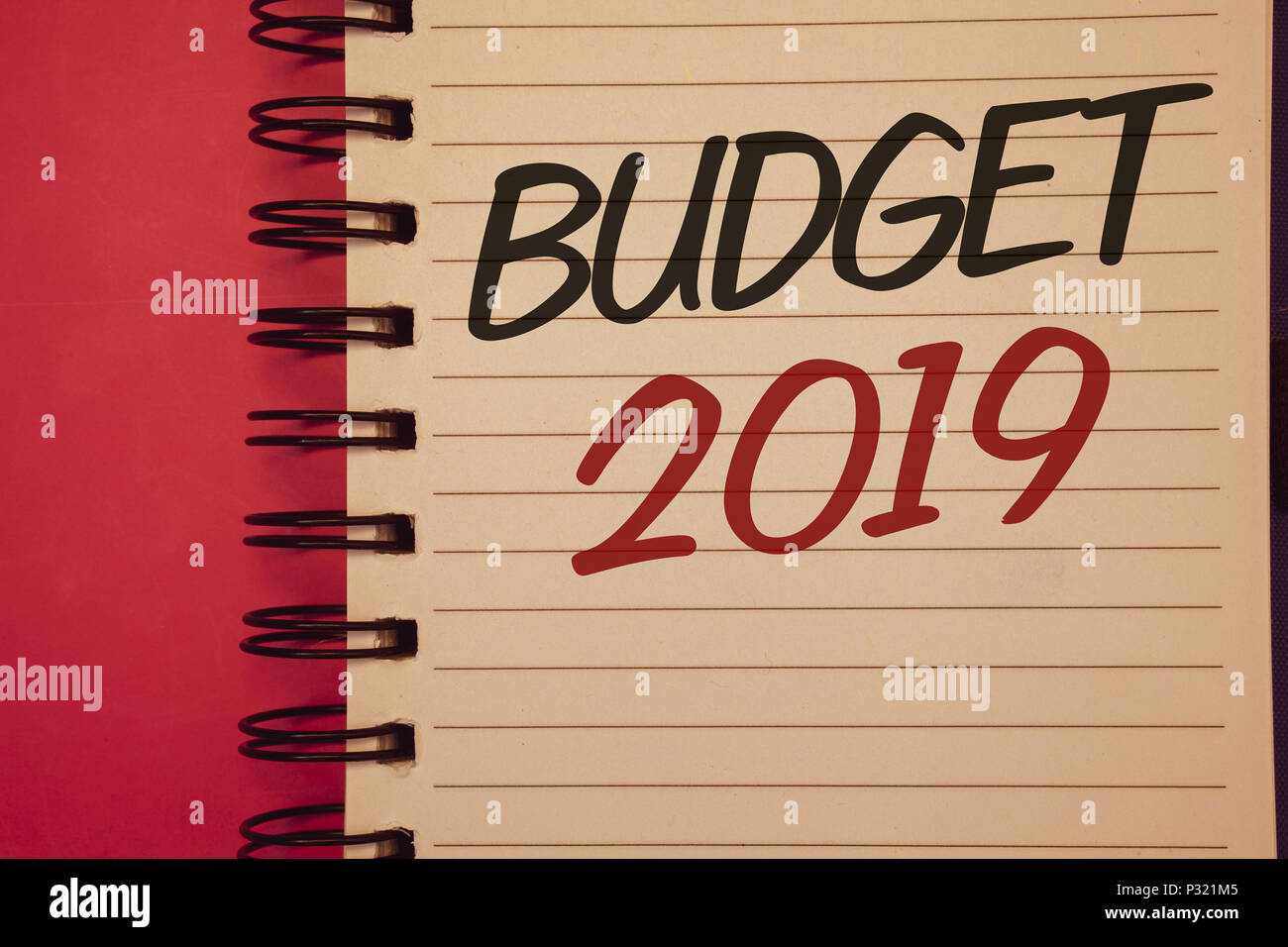 Writing note showing Budget 2019. Business photo ...
