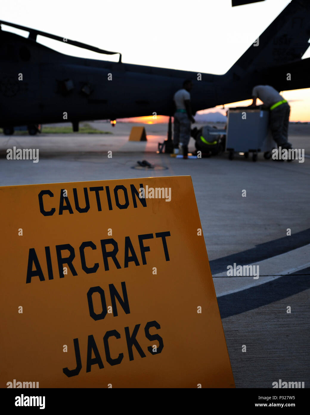 US Airmen From The 923d Aircraft Maintenance Squadron Perform On An HH 60G Pave