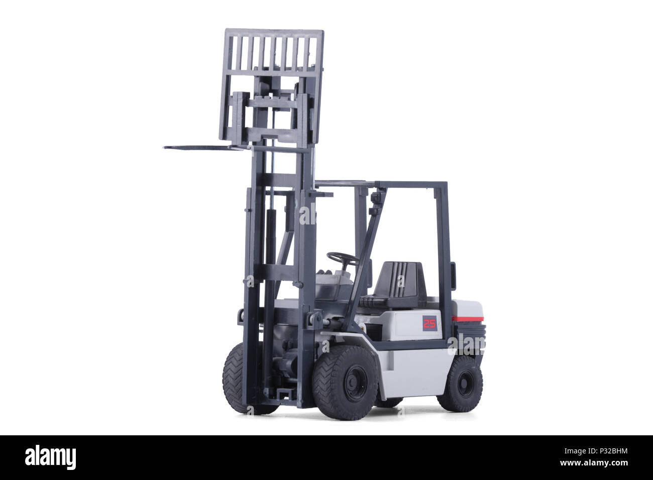 The Small grey forklift scale model. - Stock Image
