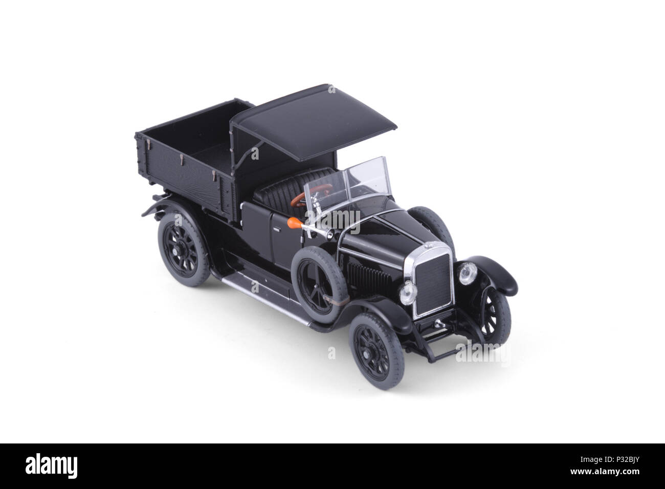 The Classic black lorry. Stock Photo