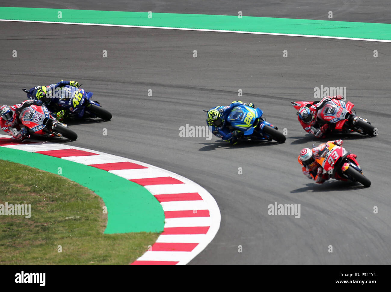 Barcelona -17th June 2018- SPAIN: start of the  the GP Catalunya Moto GP, in the Barcelona-Catalunya Circuit, on 17th June 2018. Photo: Joan Valls/Urbanandsport/Cordon Press - Stock Image