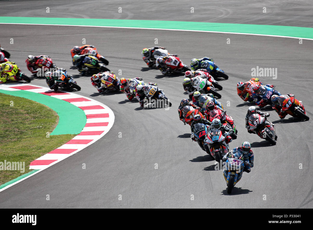 Barcelona -17th June 2018- SPAIN: start of the Moto 2 GP Catalunya Moto GP, in the Barcelona-Catalunya Circuit, on 17th June 2018. Photo: Joan Valls/Urbanandsport/Cordon Press - Stock Image