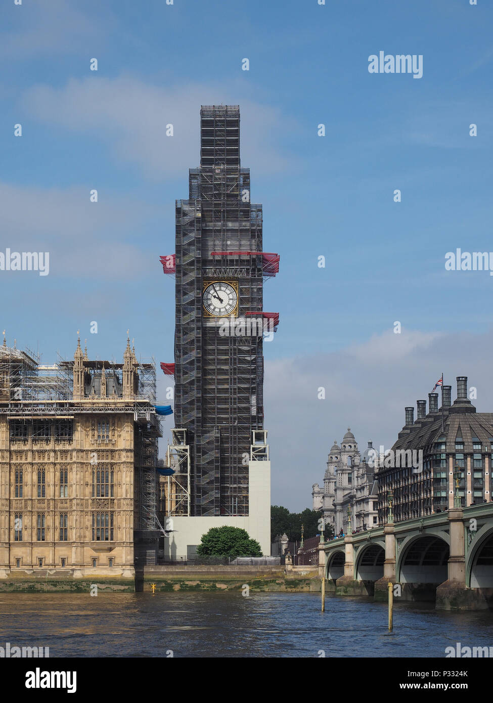 Big Ben Conservation Works At The Houses Of Parliament Aka Westminster Palace Of London Uk Stock Photo Alamy