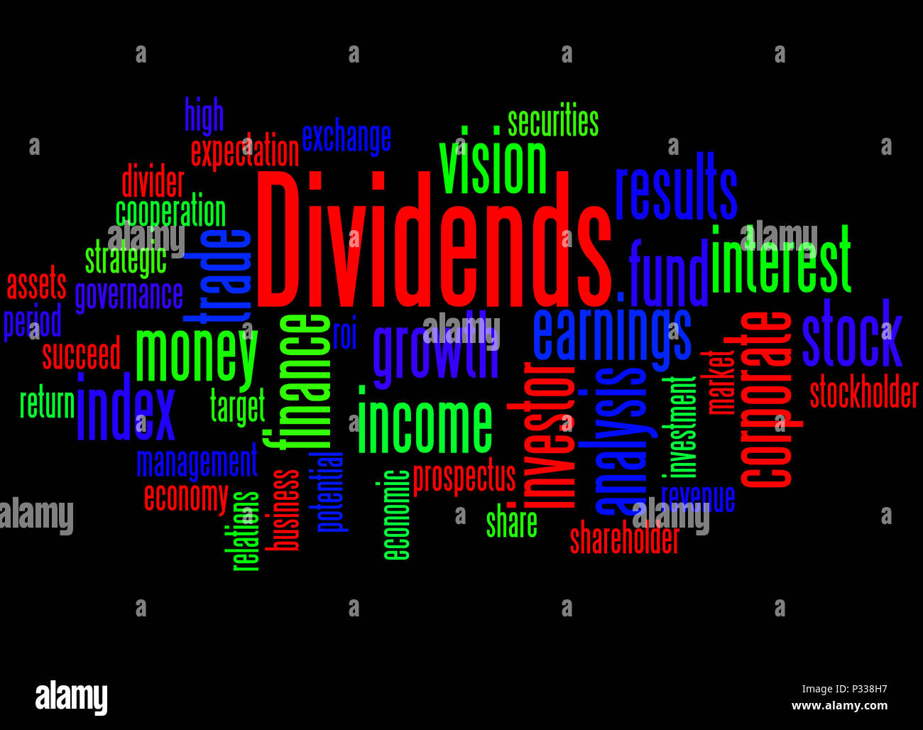 Potential Divider Stock Photos Images Alamy Circuit Of A Voltage Also Called Is Dividends Word Cloud Concept On Black Background Image