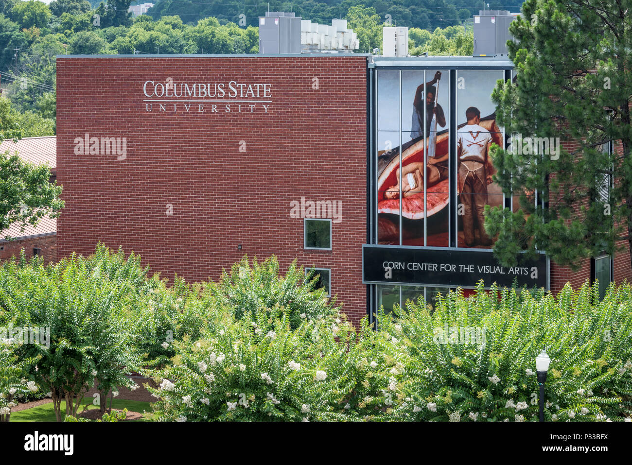 Columbus State University's Corn Center for the Visual Arts in Uptown Columbus, Georgia along the Chattahoochee River. (USA) - Stock Image