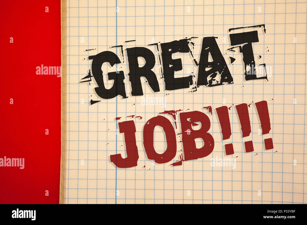 Words Writing Textss Great Job Motivational Call Business Concept For Excellent Work Well Done Good Results Compliment Stock Photo Alamy