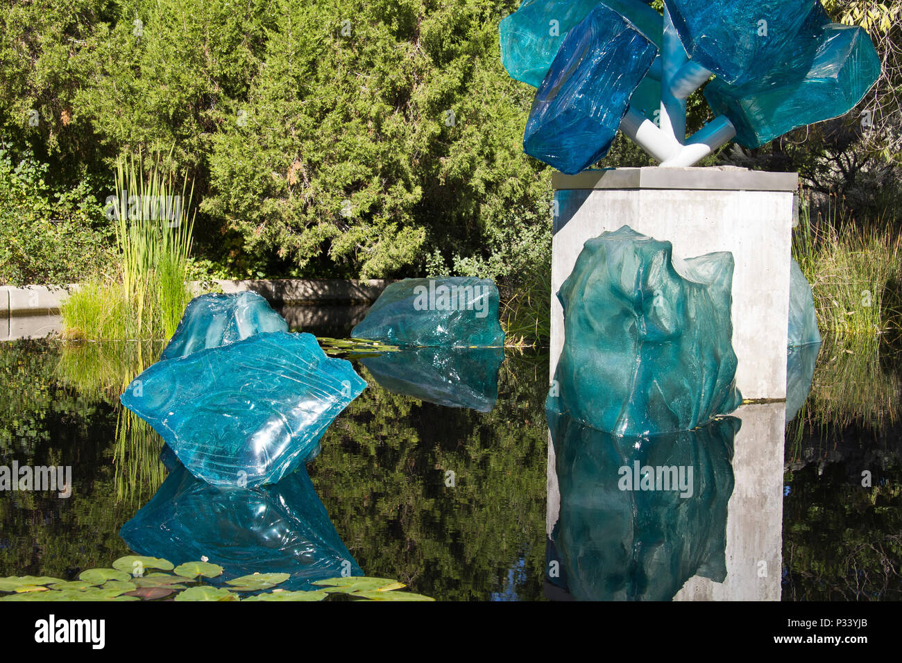 Glass Art Installation By Dale Chihuly Entitled Polyvitro Crystal
