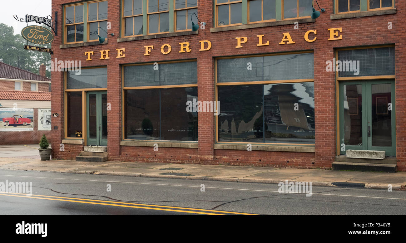 an historical document of architecture and location for The Ford Place Restaurant circa 2018 Stock Photo