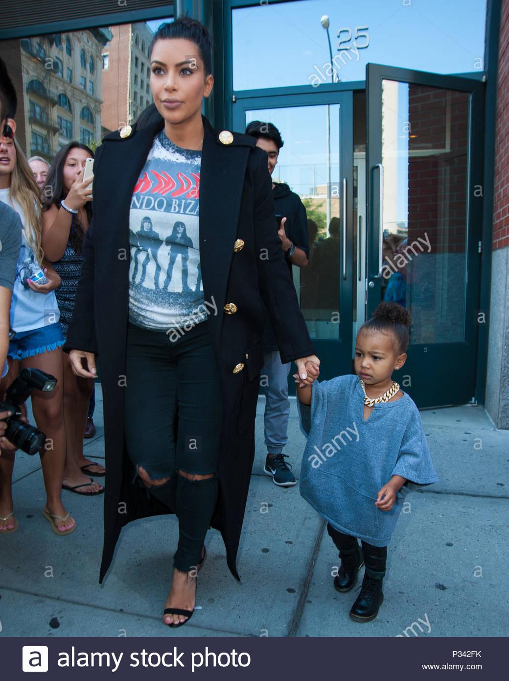 Kim Kardashian West and North West. Kim Kardashian West and North ...
