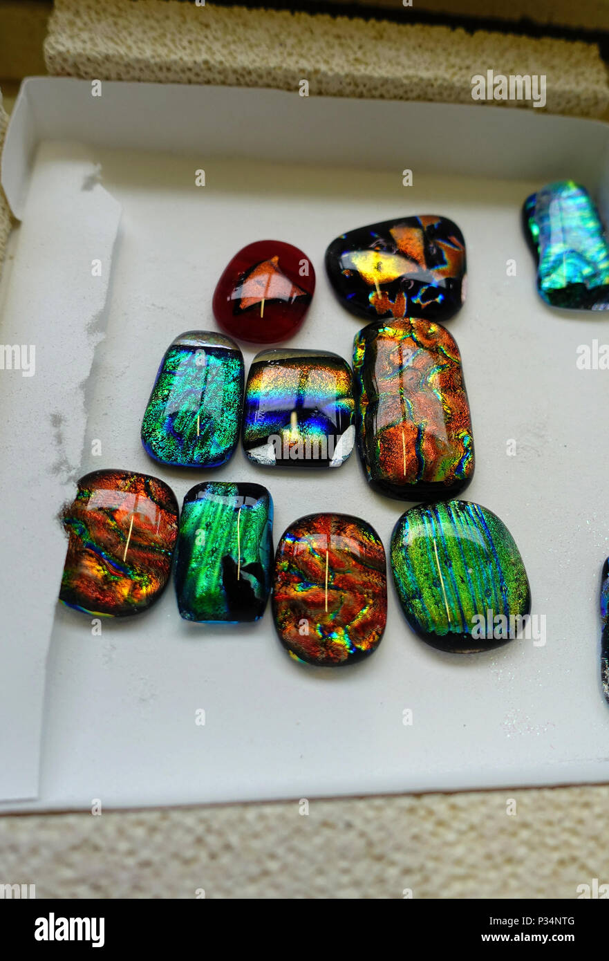 Glass fusing project - Stock Image
