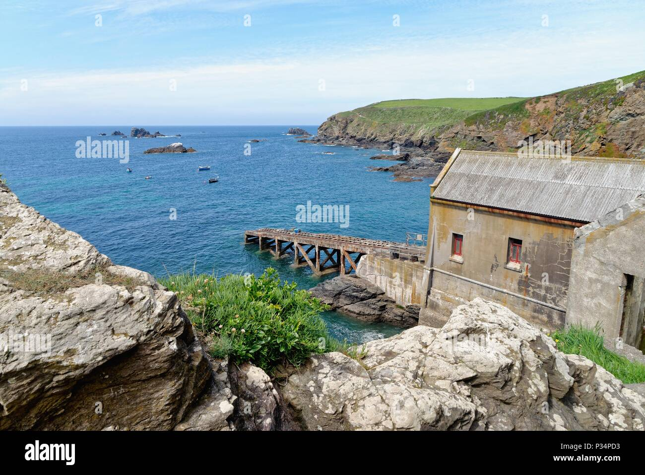 The Lizard peninsula, England's most southerly point,on a summers day, Cornwall UK - Stock Image