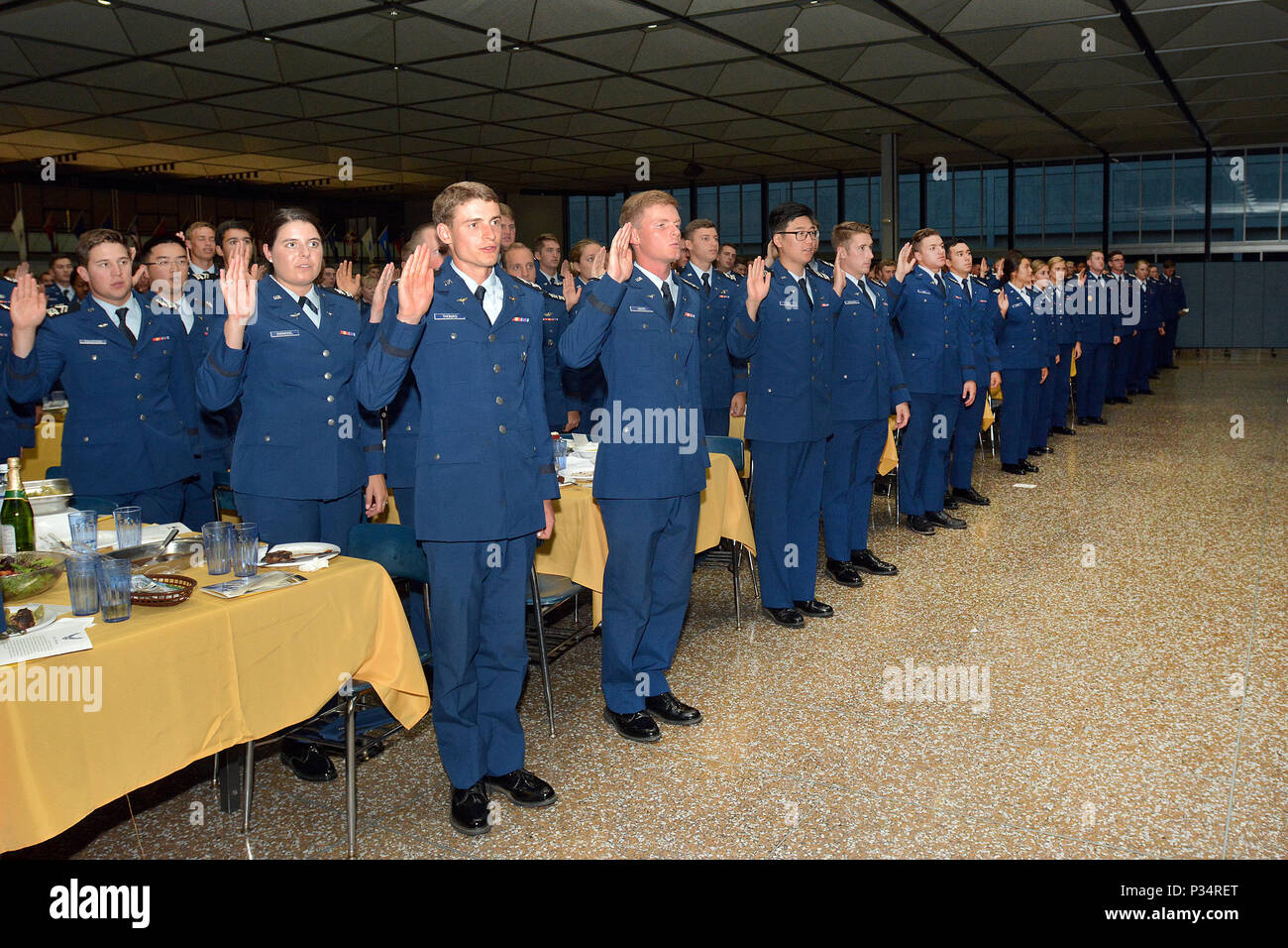 The U S  Air Force Academy Class of 2019 recites the Oath of