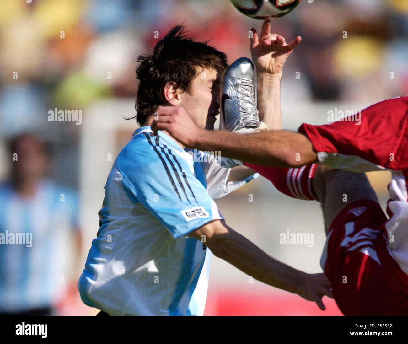 Arke Stadion Enschede, The Netherlands 14.6.2005, FIFA World Youth Championship, Egypt - Argentina 0:2 ---  Lionel MESSI  (ARG) - Stock Image