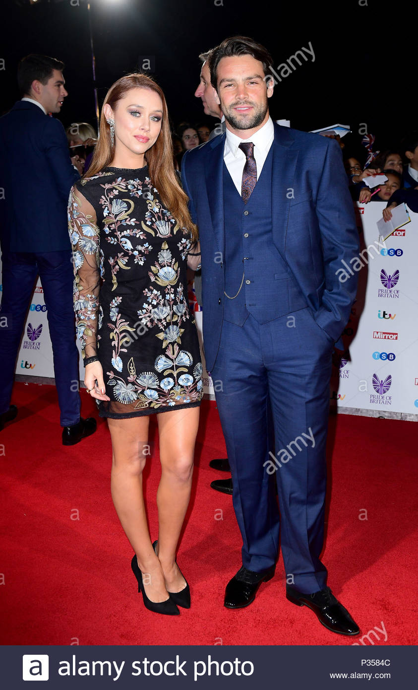 File photo dated 31/10/2016 of Una Healy and Ben Foden as The Saturdays singer has revealed she battled postnatal depression and praised her rugby player husband for helping her through it. - Stock Image