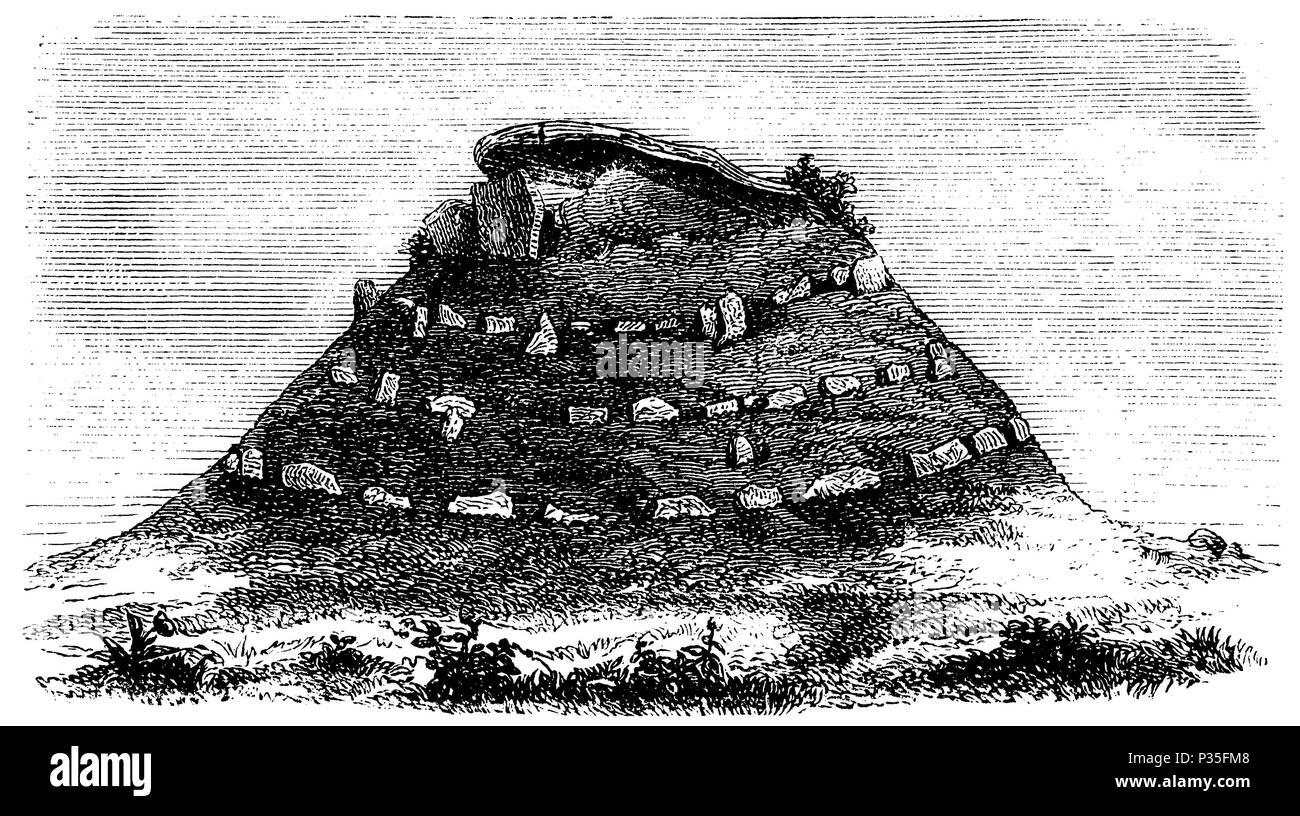 Dolmen of Bousquet,   1874 Stock Photo