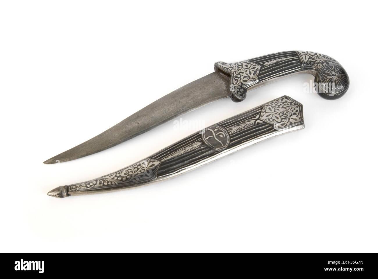Indo-Persian Mughal Dagger - Stock Image