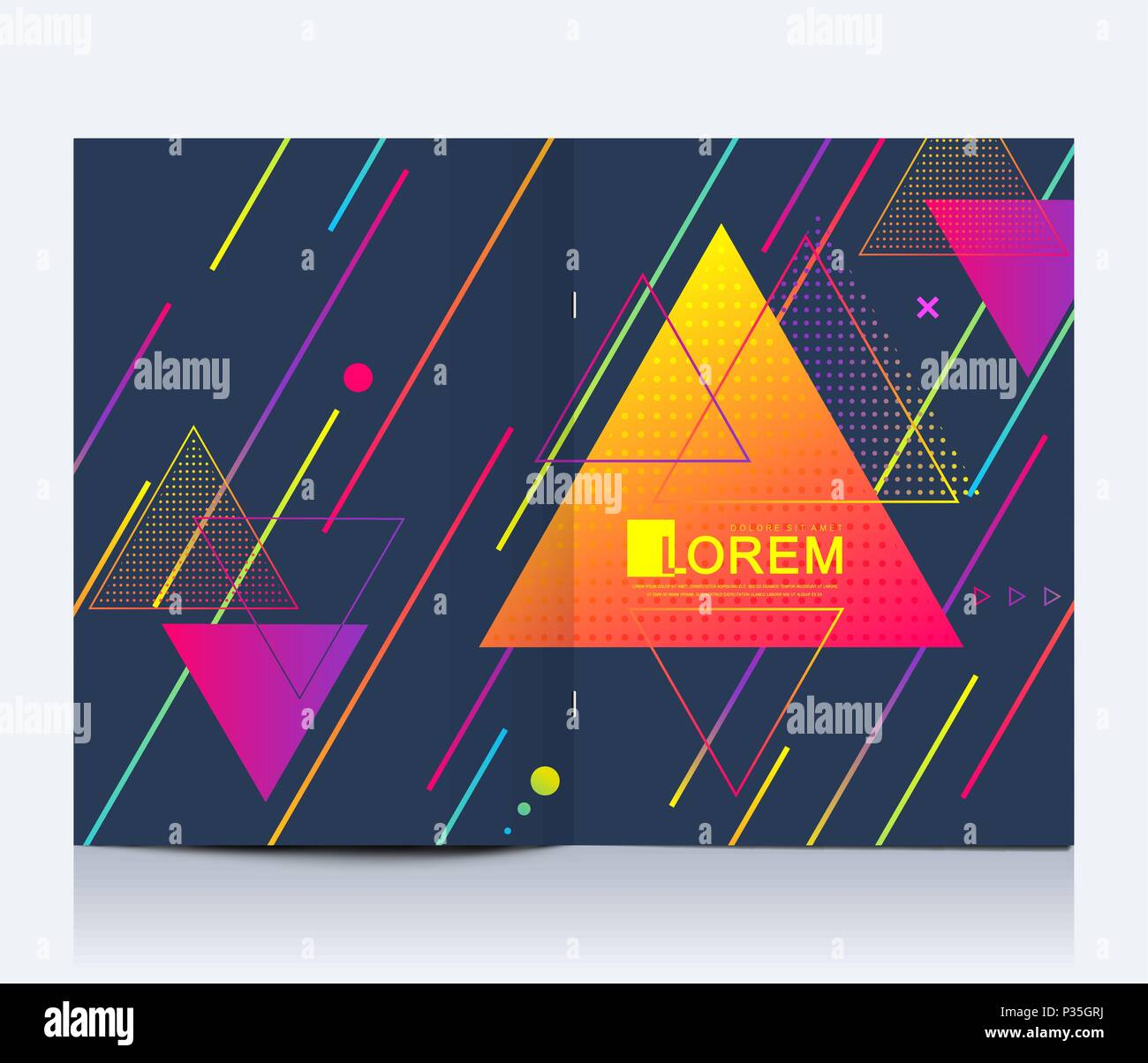 modern vector template for brochure leaflet flyer advert cover banner catalog magazine or annual report abstract triangle background texture design