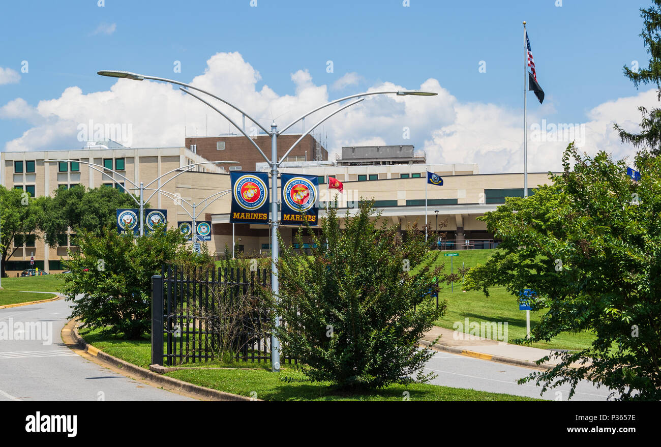 ASHEVILLE, NC, USA-10 JUNE 18: A Veterans Administration Hospital, the Charles Grove Medical Center. - Stock Image