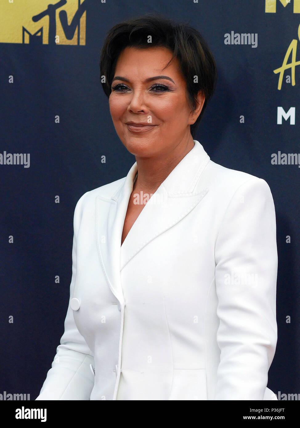 Kris Kardashian attending the 2018 MTV Movie and TV Awards held at ...