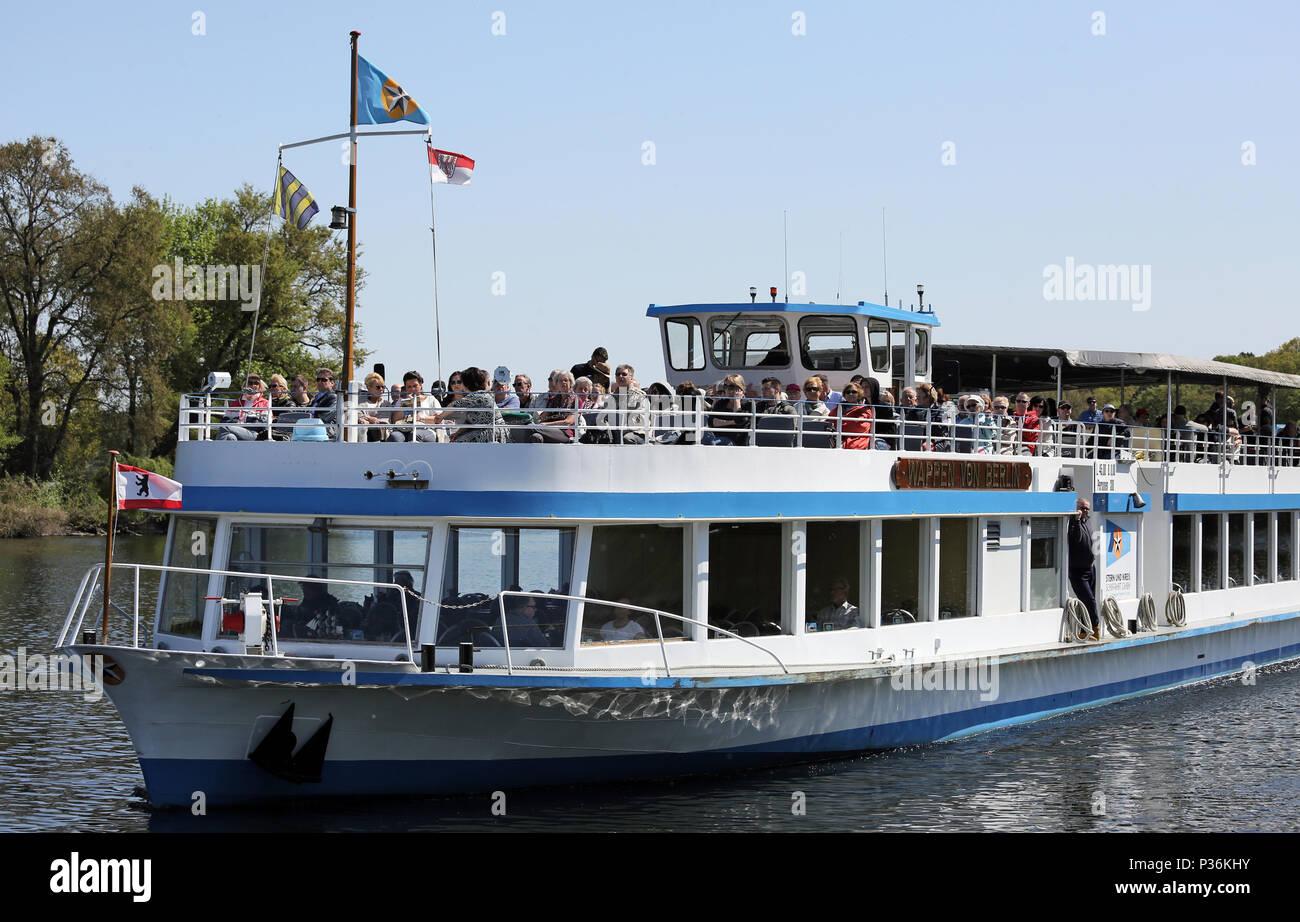 Berlin, Germany, Passenger Ship of the Star and Circular Shipping - Stock Image