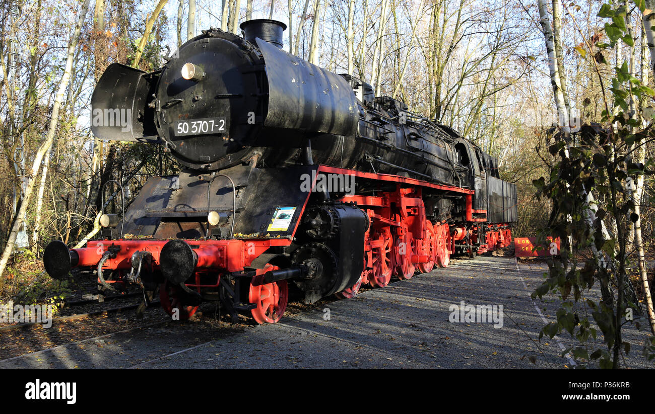 Berlin, Germany, cargo locomotive class 50 - Stock Image