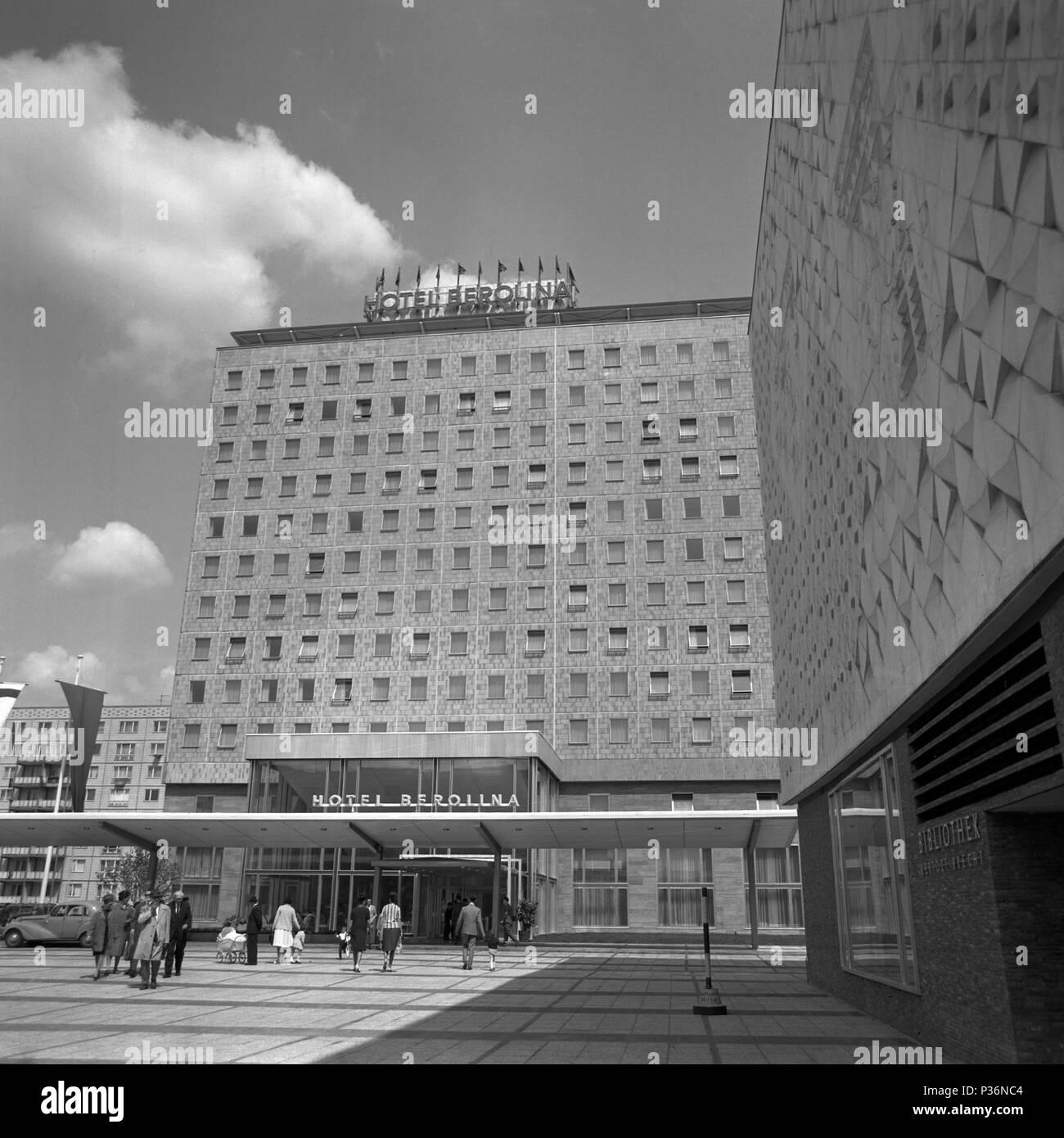 berlin gdr the hotel berolina in karl marx allee stock photo 208516900 alamy. Black Bedroom Furniture Sets. Home Design Ideas