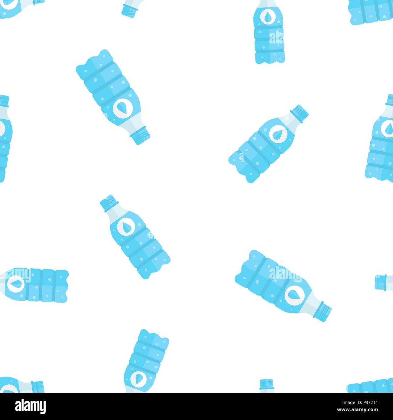 Water bottle icon seamless pattern background. Business concept vector illustration. Water plastic container symbol pattern. - Stock Vector