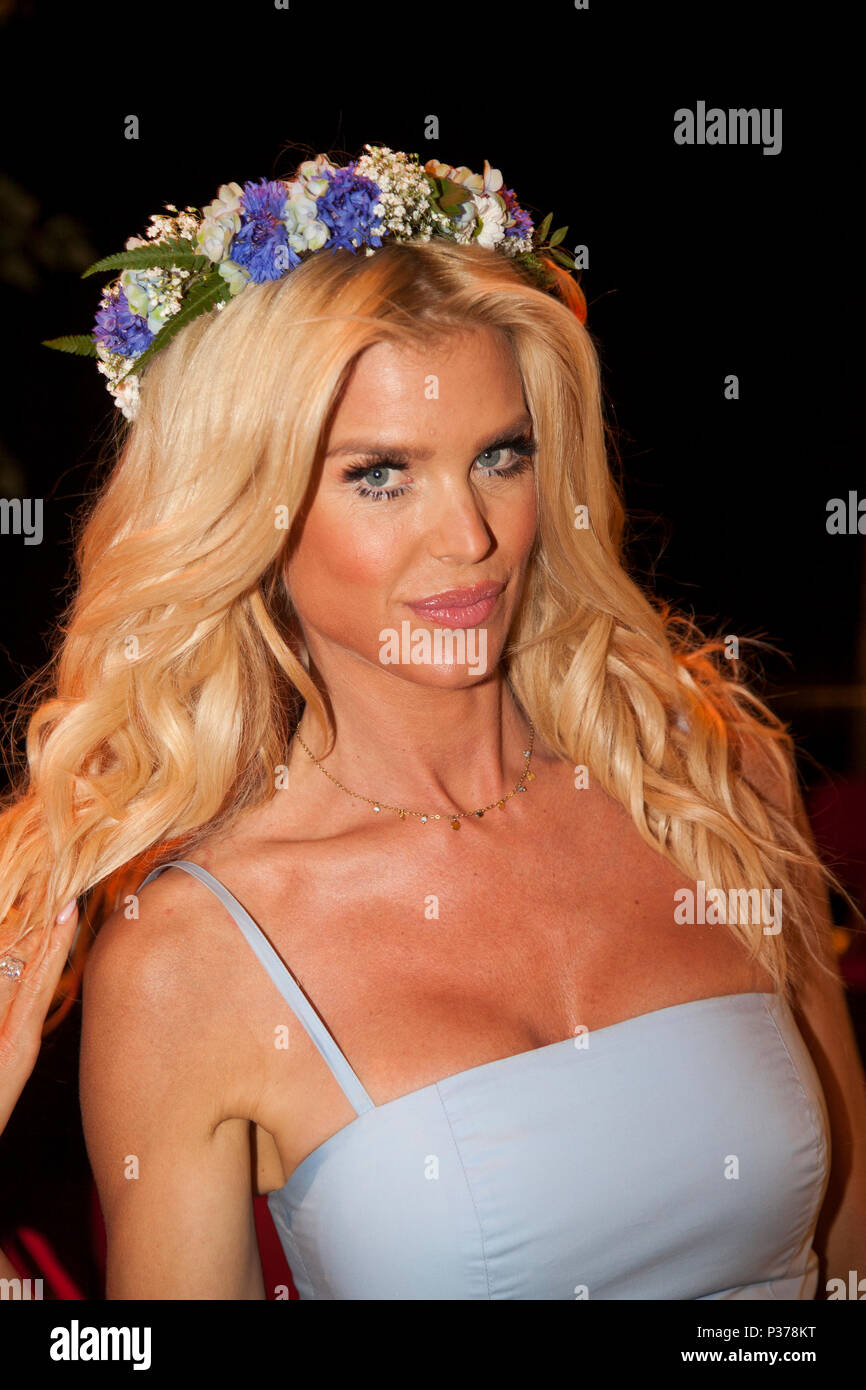 VICTORIA SILVSTEDT Swedish top model 2018 - Stock Image