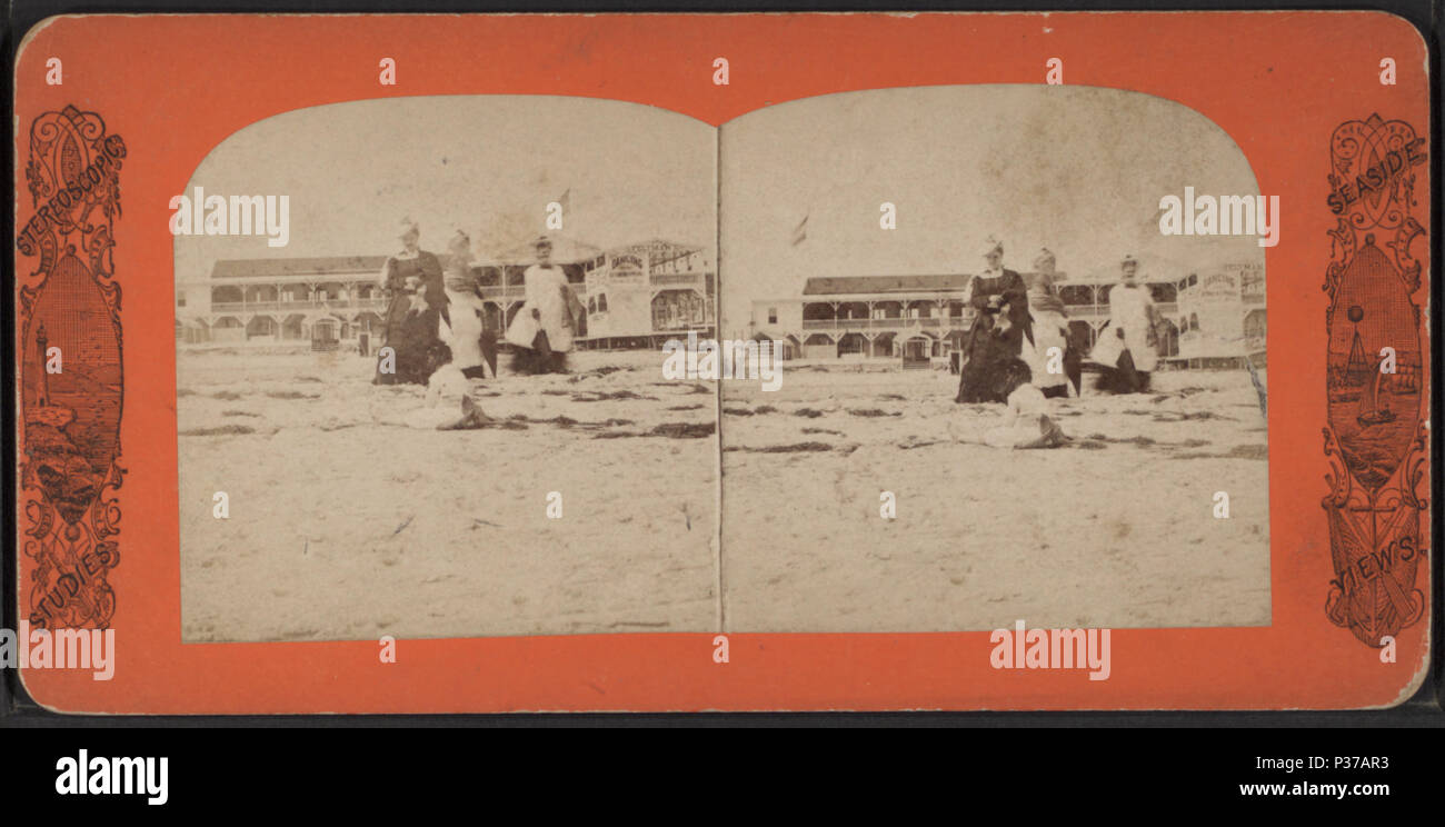103 Feltman's Hotel. (West Brighton Beach, Coney Island), from Robert N. Dennis collection of stereoscopic views Stock Photo