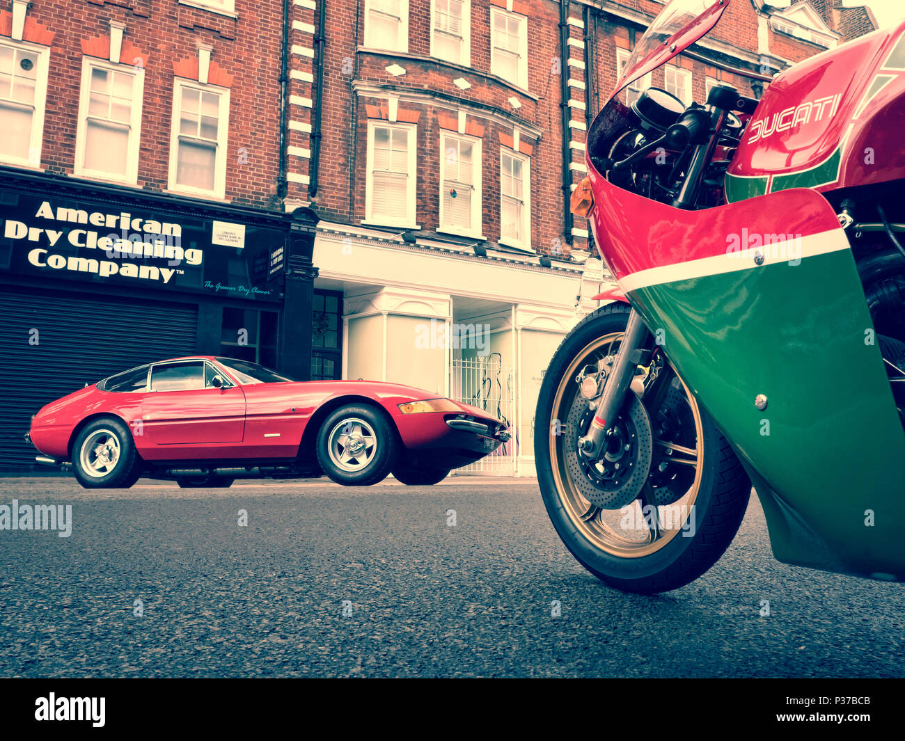 St Johns Wood Fathers Day Classic Car Show Stock Photo - Daytona classic car show