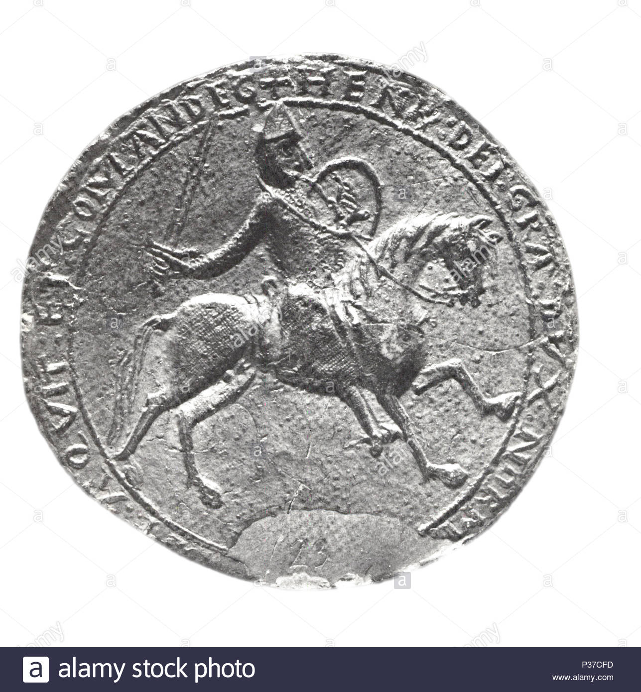 Great Seal of Henry II (1154-89) - Stock Image