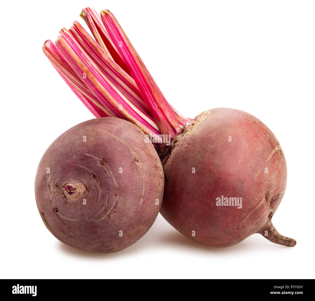 beetroot path isolated Stock Photo