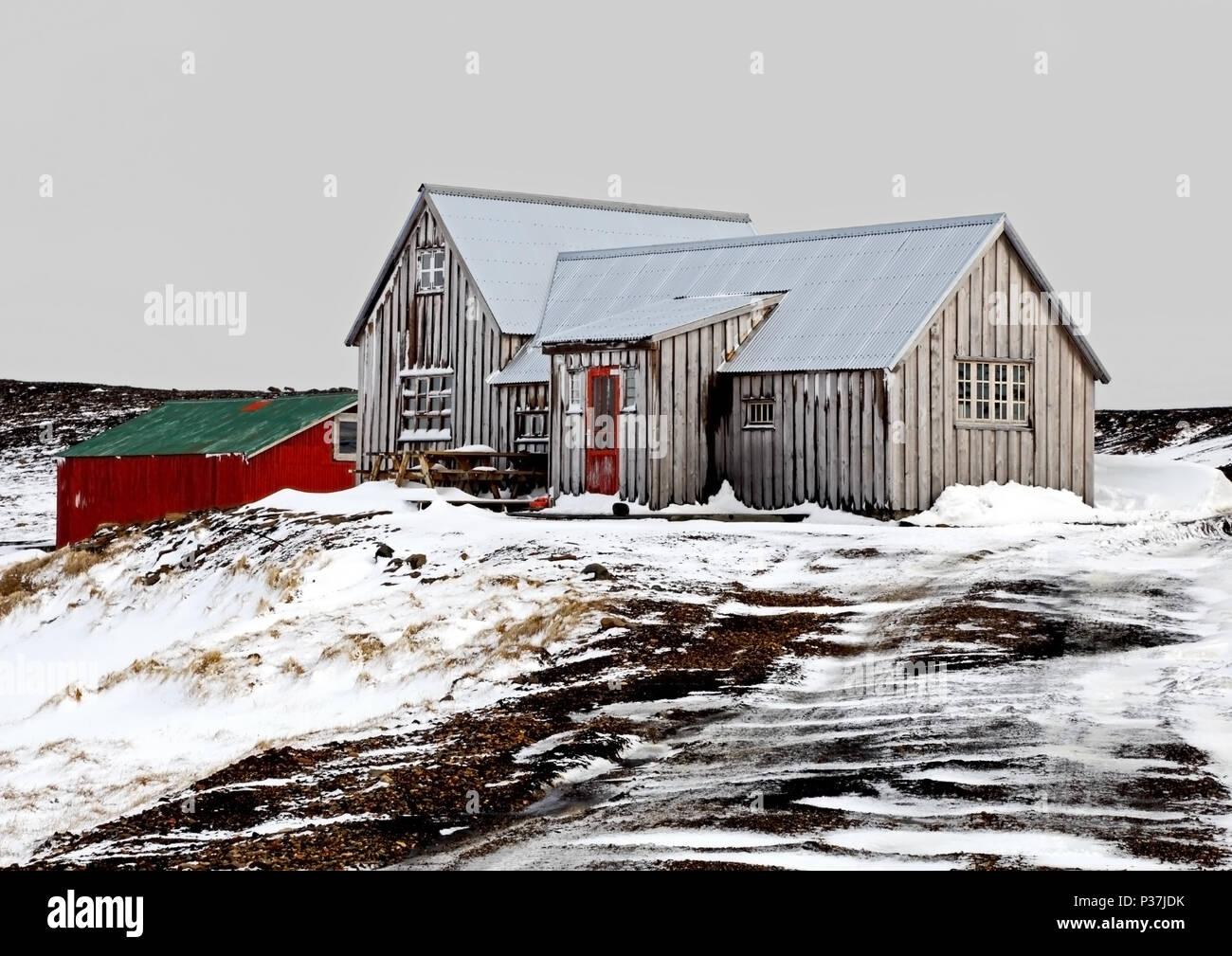 Icelandic Mountain Retreat - Stock Image