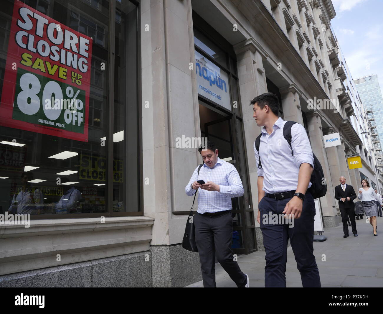 Maplins closing down, store closure sale, London Stock Photo