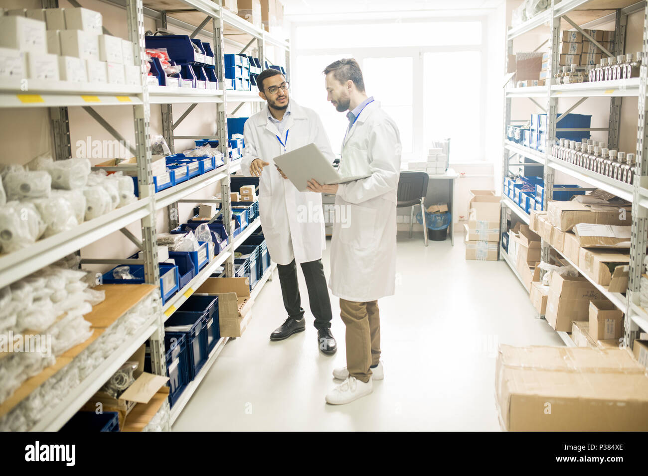 Discussing Quality of Measuring Equipment - Stock Image
