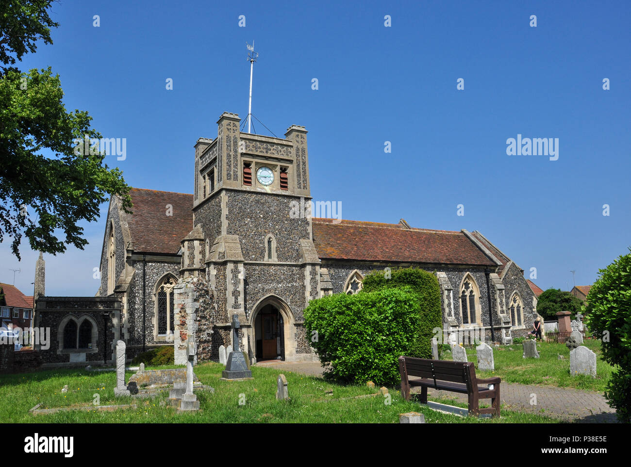 St Mary's Church, Walton, (between Felixstowe and Trimley), Suffolk, England, UK - Stock Image