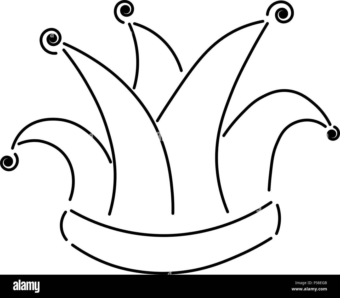 Coloriage Clown Ca.Clown Black And White Stock Photos Images Alamy
