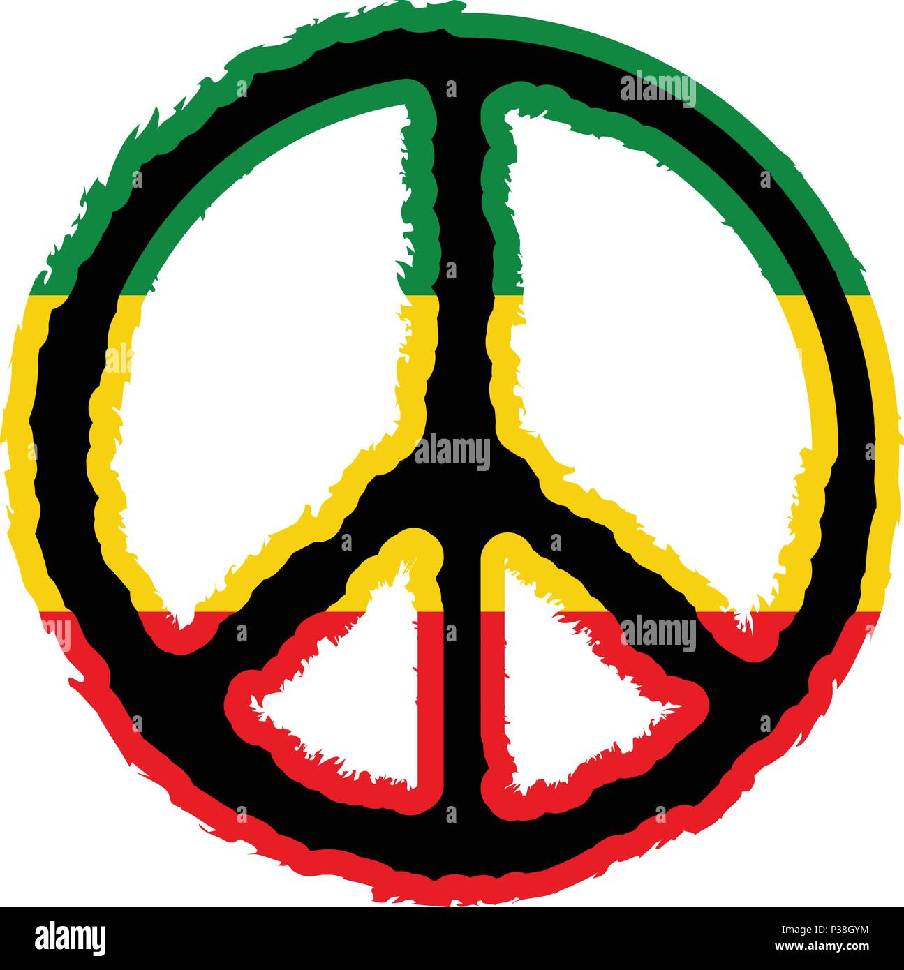 5ab36ded6 Isolated colored peace symbol Stock Vector Art & Illustration ...