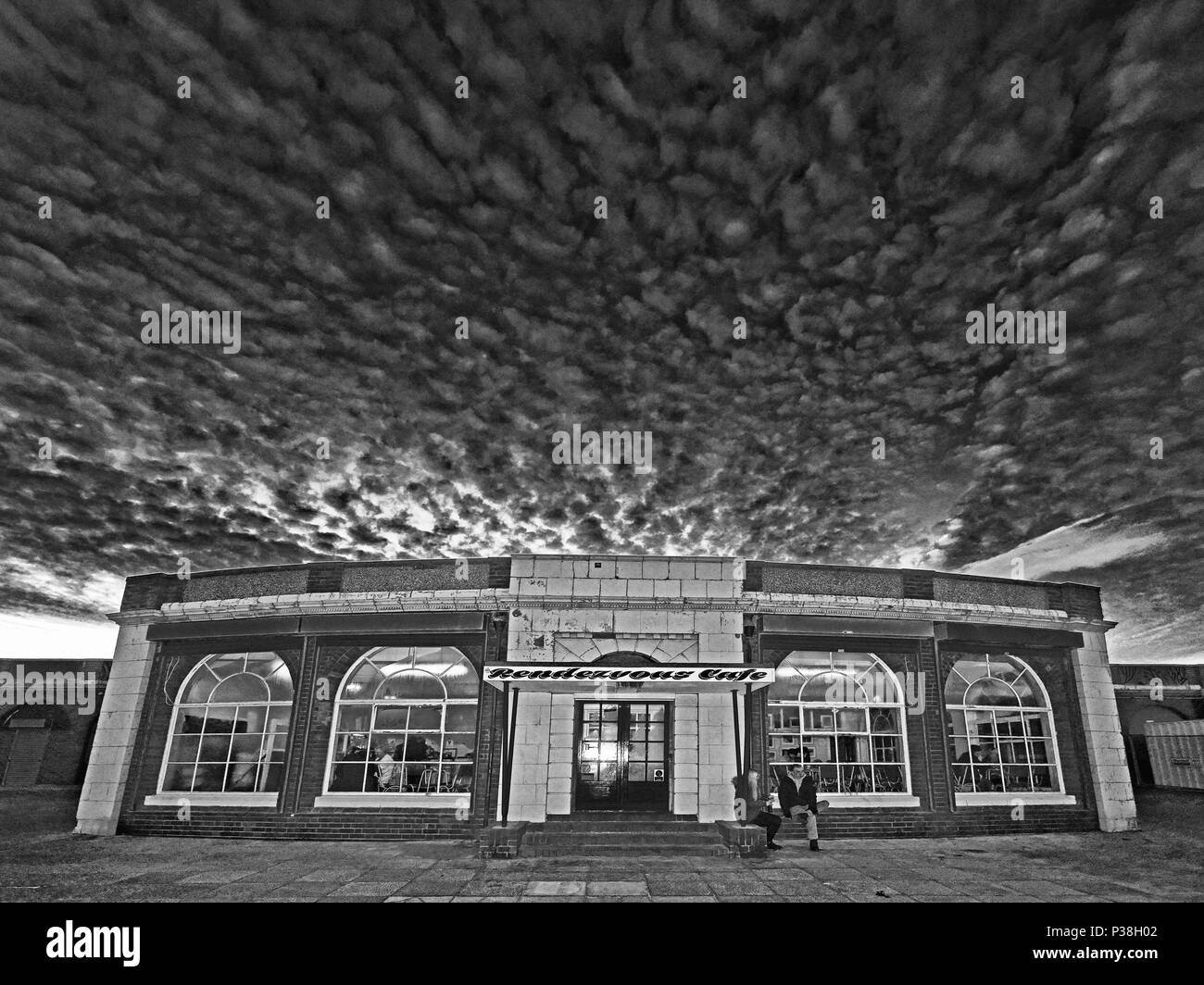 Rendevous Cafe Whitley Bay - Stock Image