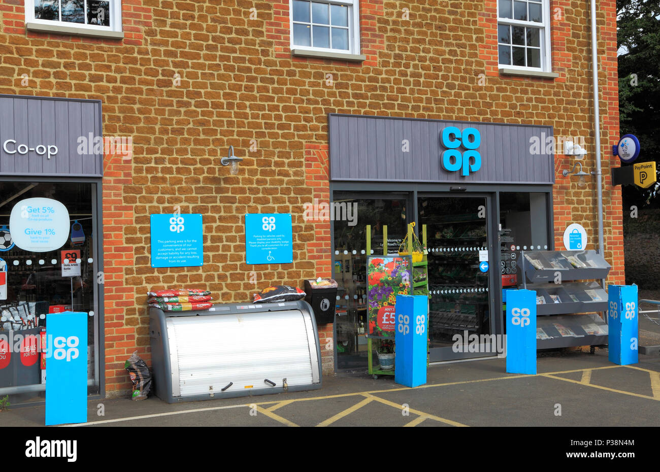 Co Op, Co-Op, shop, store, mini supermarket, small village, Snettisham, Norfolk - Stock Image
