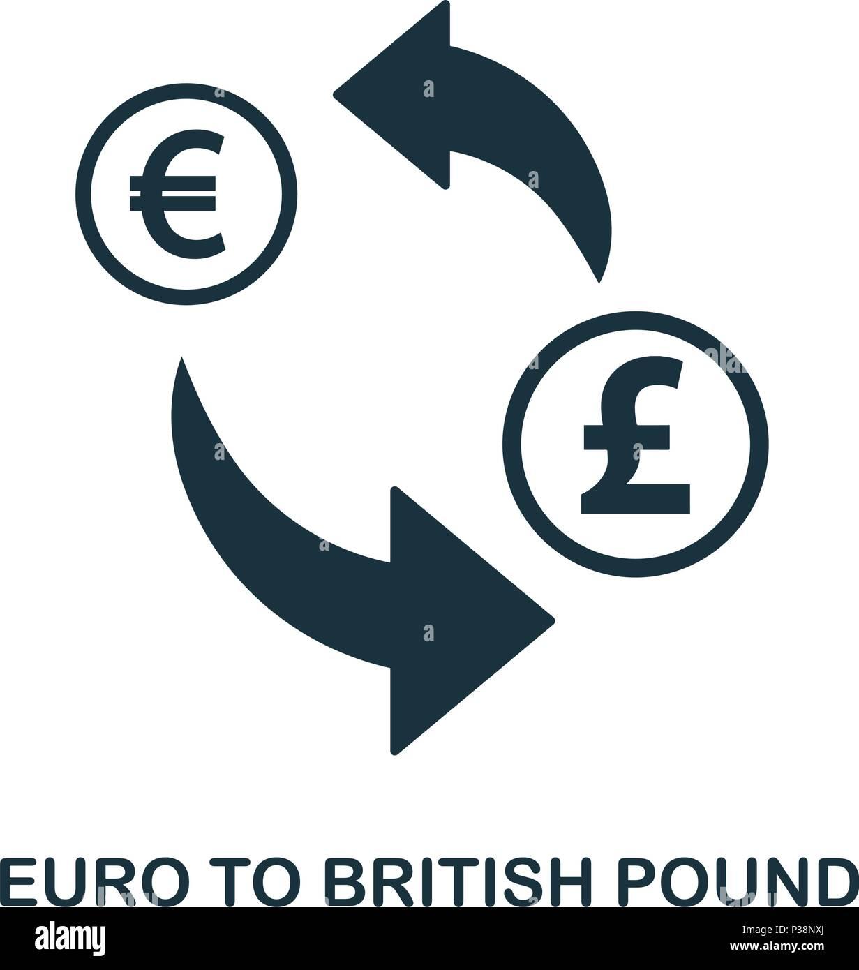 Euro To British Pound Icon Mobile App Printing Web Site Icon