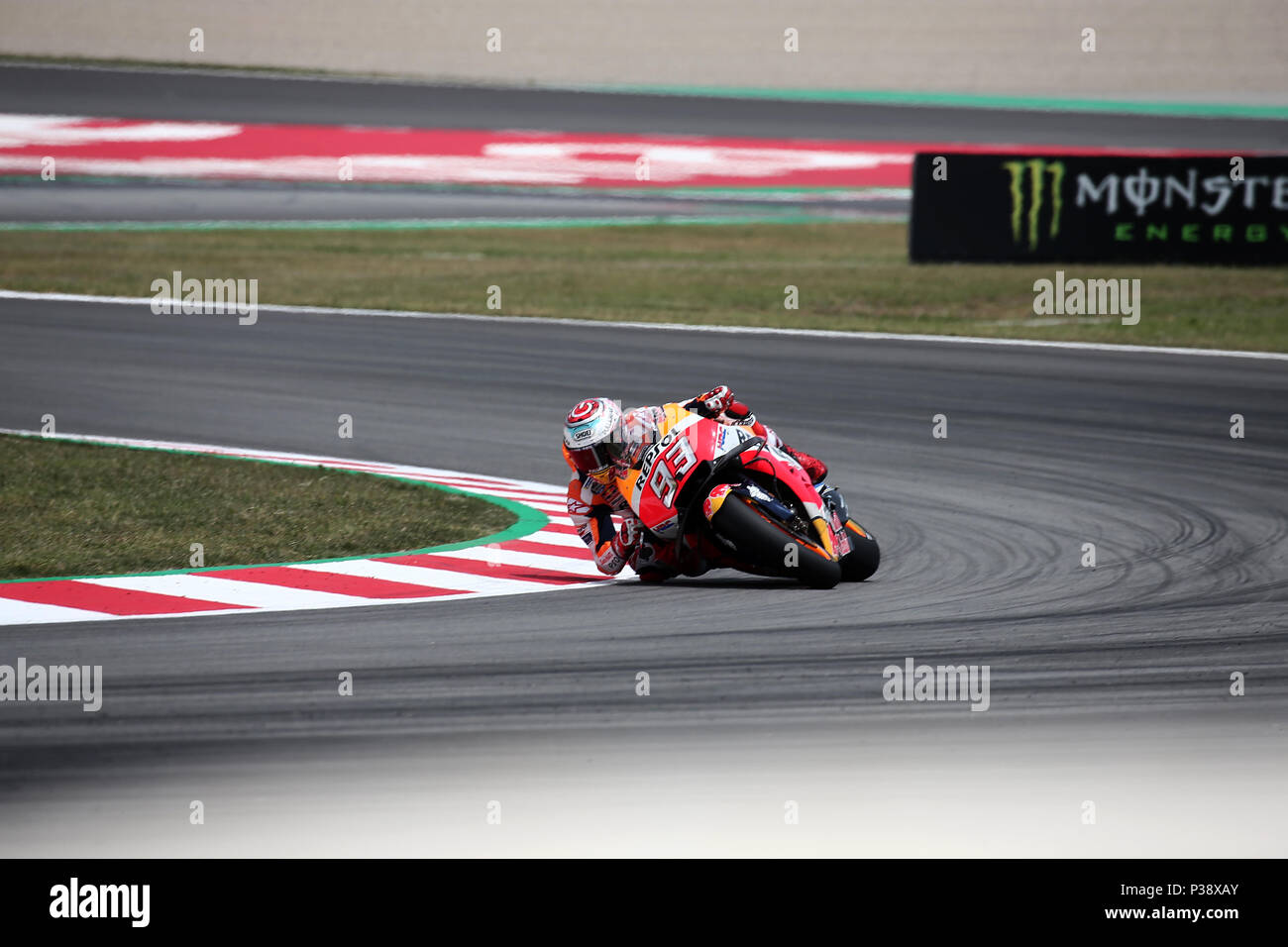 Barcelona -17th June 2018- SPAIN: Marc Marquez (Honda) during the  the GP Catalunya Moto GP, in the Barcelona-Catalunya Circuit, on 17th June 2018. Photo: Joan Valls/Urbanandsport/Cordon Press - Stock Image