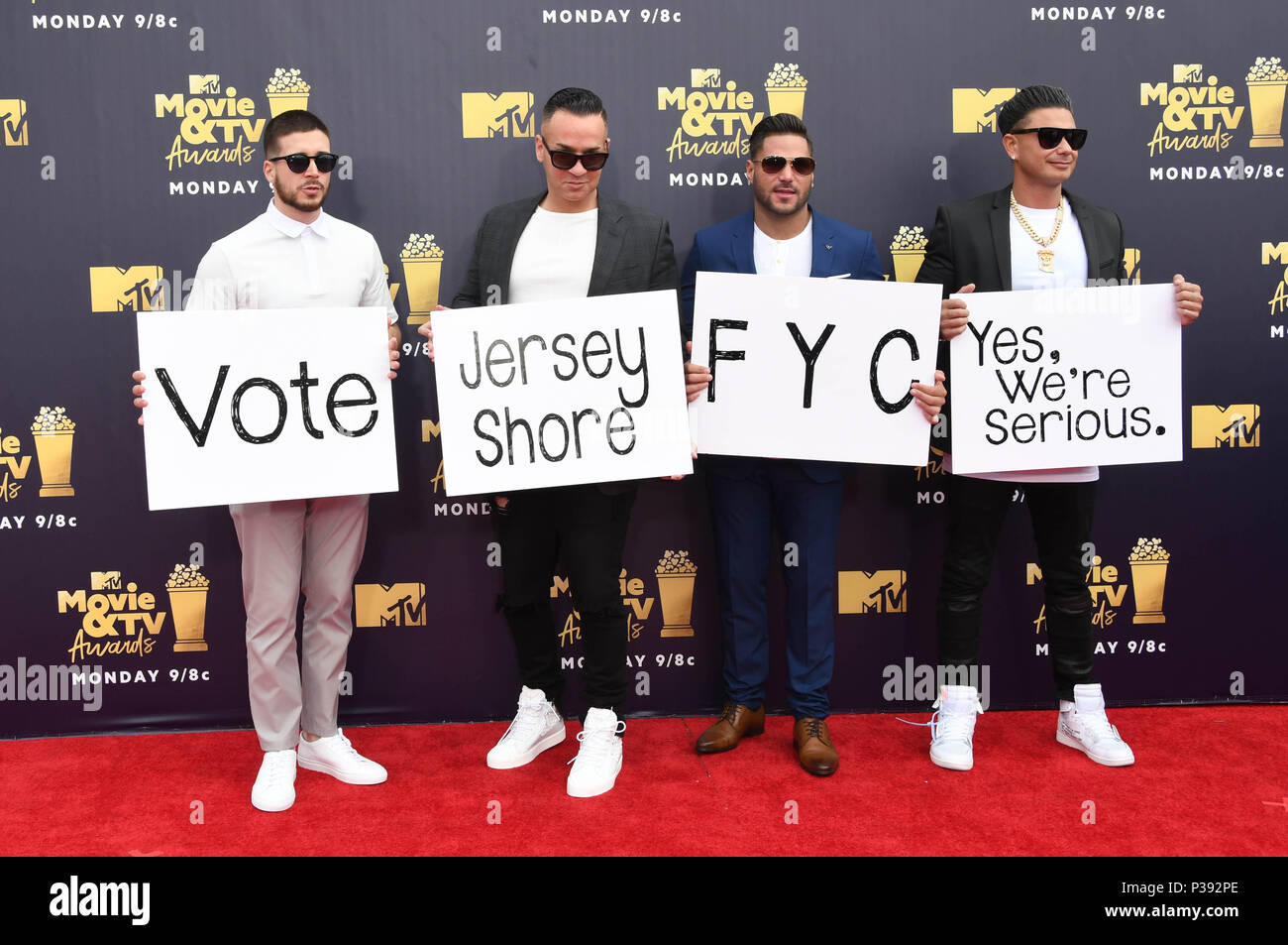 Jersey Shore Cast Stock Photos & Jersey Shore Cast Stock