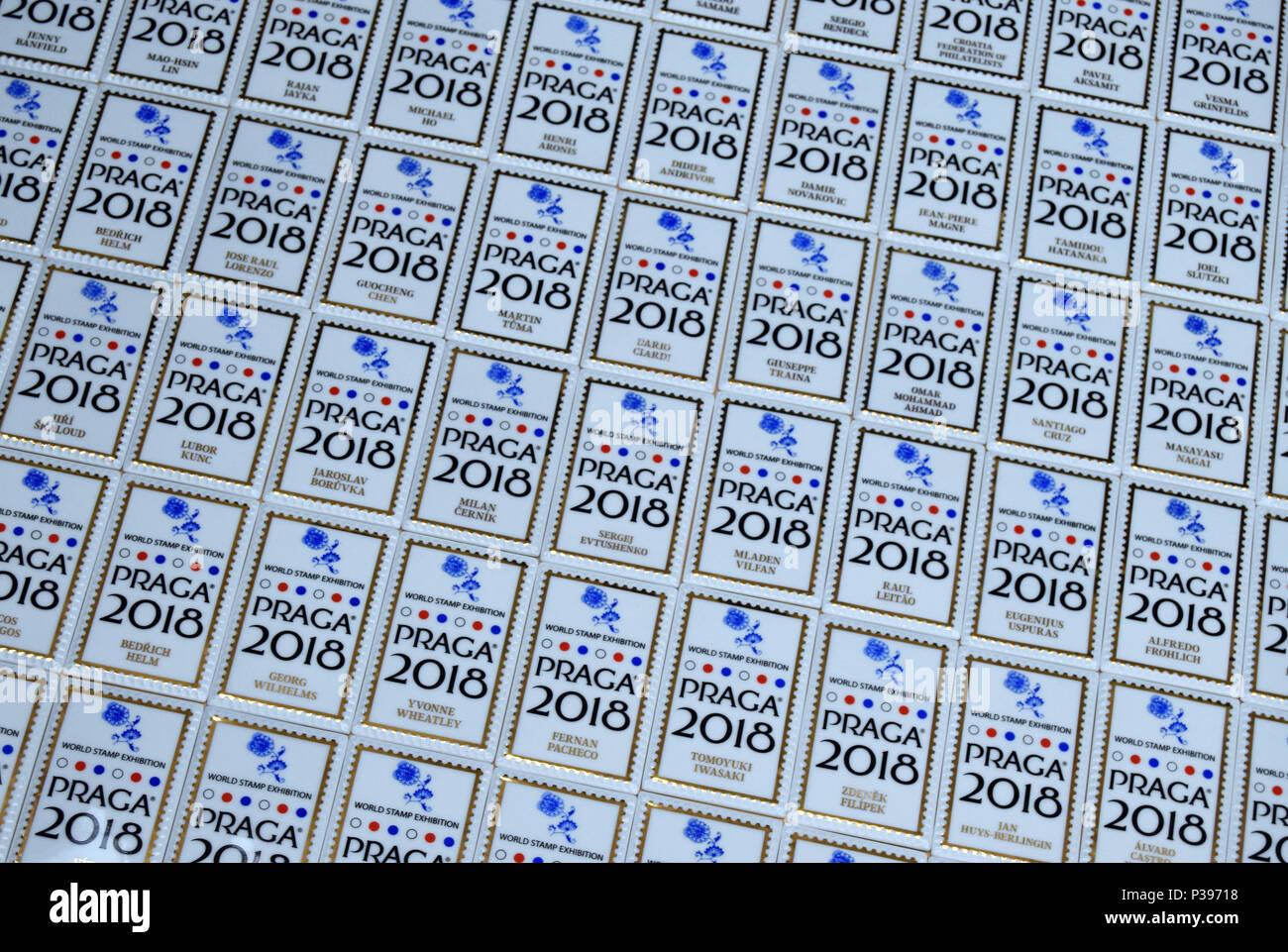 Dubi Czech Republic 12th June 2018 Porcelain Postage Stamp