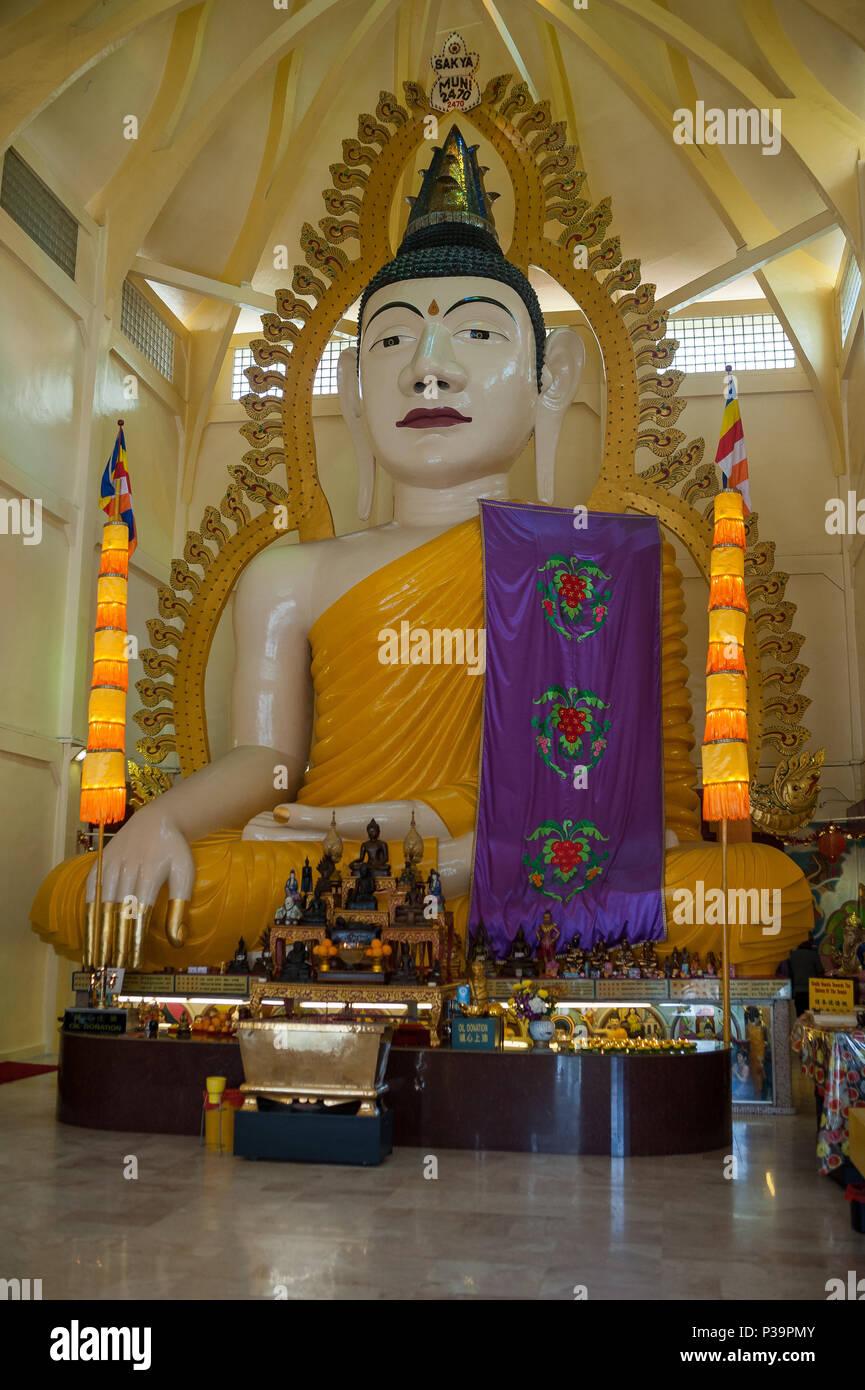 Singapore, Republic of Singapore, Sakya Muni Buddha Gaya Temple - Stock Image