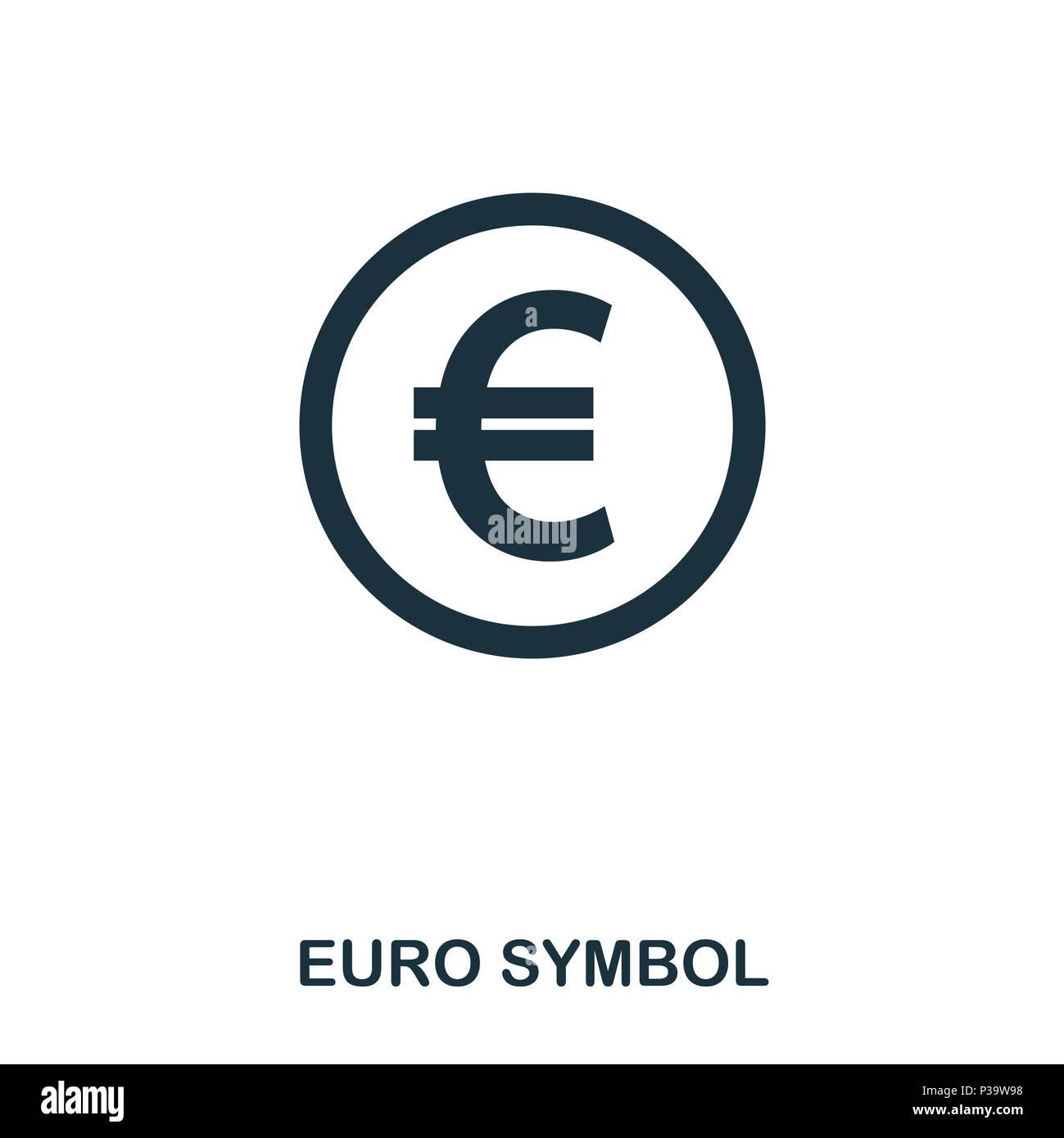Euro Symbol Icon Mobile App Printing Web Site Icon Simple
