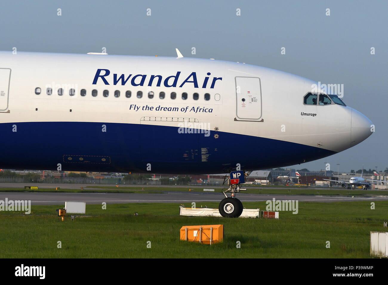 RWANDAIR AIRBUS A330-300 9XR-WP - Stock Image