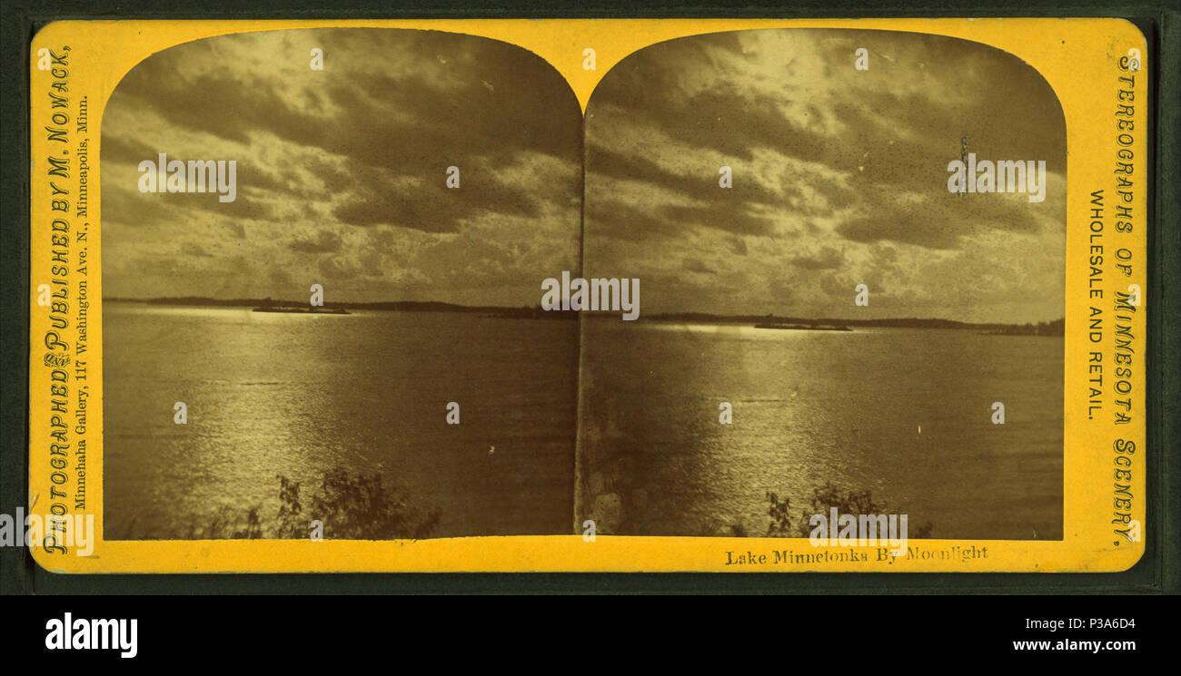 74334a05382f9 165 Lake Minnetonka by moonlight, by M. Nowack Stock Photo ...