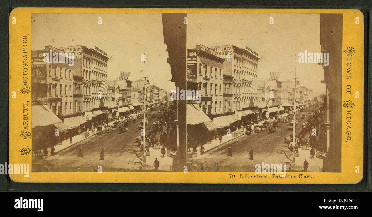 Lake Street East From Clark Alternate Title Views Of Chicago 70 Coverage 1865 1915 Source Imprint Digital Item Published 6 15 2005